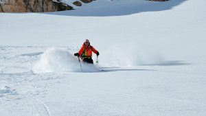Henry off-piste in Val d'Isere