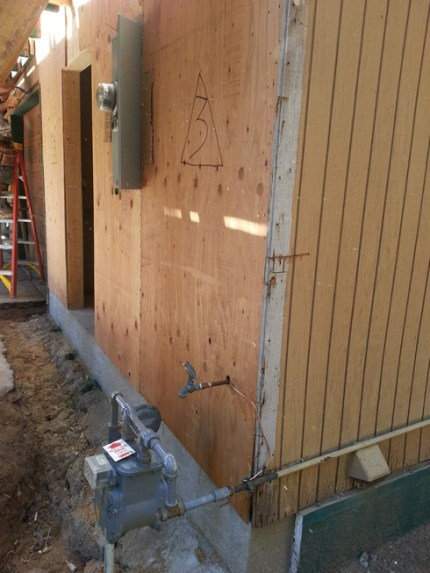 New Panel exterior view with new shear wall
