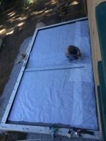 Steve Neft's crew starting to set the steel rebar