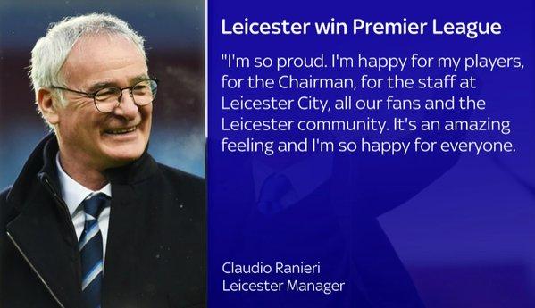 Leicester ran
