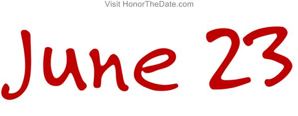 twenty-three-23-june-Calendar-date-script