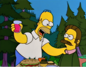 flanders and homer