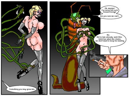 Alien Tentacle sexoid drilling busty space girl