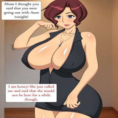 My Horny Mom  Aunt Original  by Unknown at HentaiHerecom