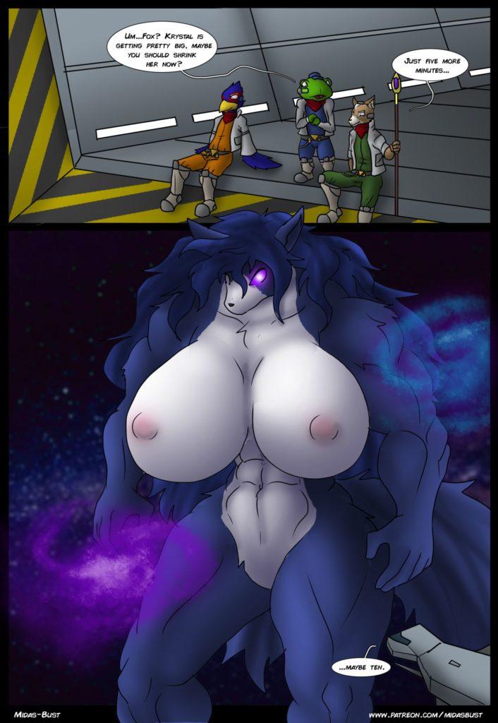 Foxs furry big boobs Krystal Chaos Star Fox Midas Bust Hentai Comics Free