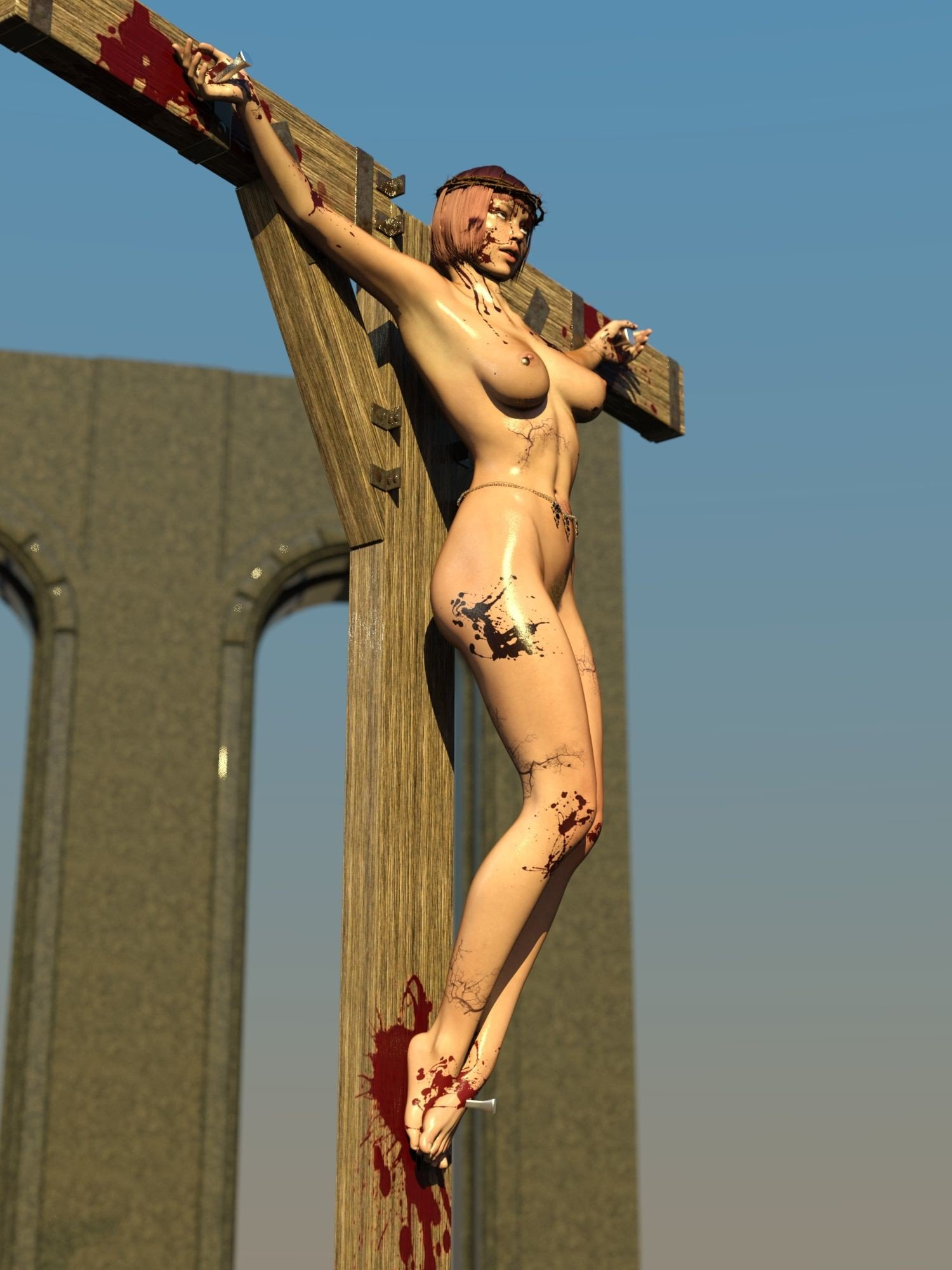 beauty of crucifixion Hentai Online porn manga and