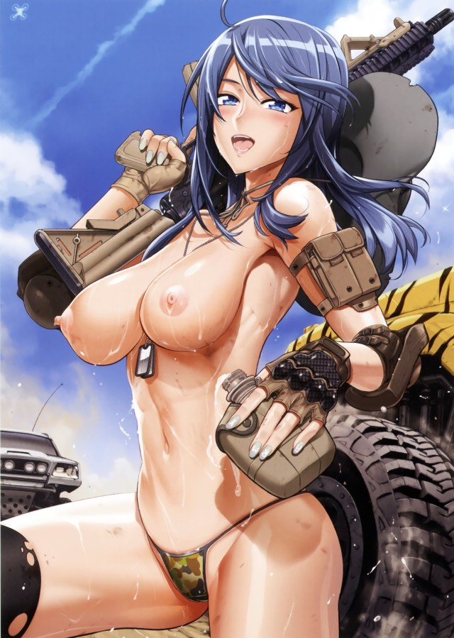 Thirty Ecchi Hentai Drawings Of Girls With Guns