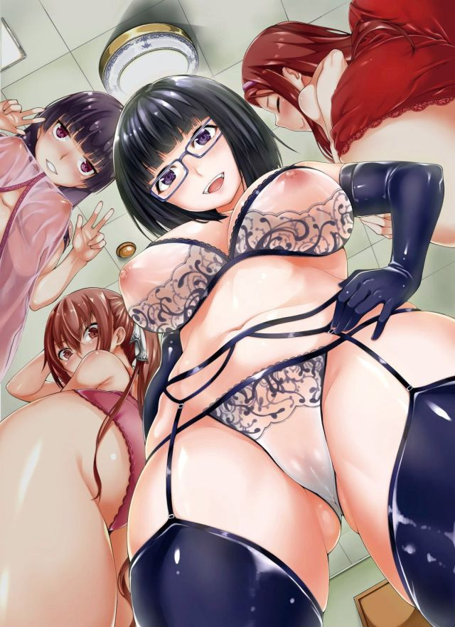 Thirty Hot Hentai Girls Wearing Lingerie