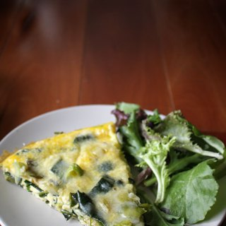 Leek and Parmesan frittata