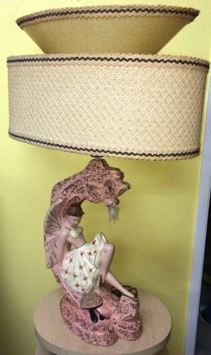 Continental Art Co. Tinkerbell Lamp Pair