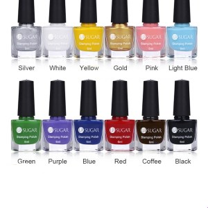 12Pcs 6ml Nail Stamping Polish Set
