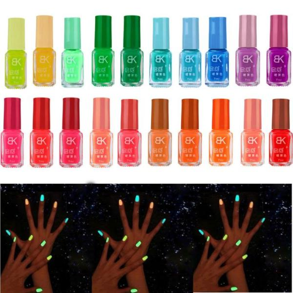 20 colors series of Fluorescent Neon Luminous Gel Nail Polish