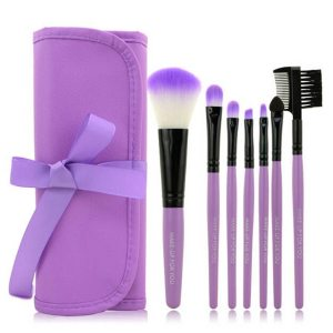 1 Set/7 PCS Wood Makeup Brush