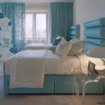 Mavi renklerde Yatak Odaları