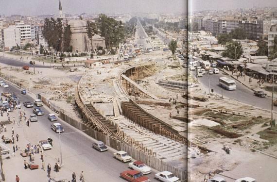 Eski Istanbul - Aksaray Ust Gecidi 1974