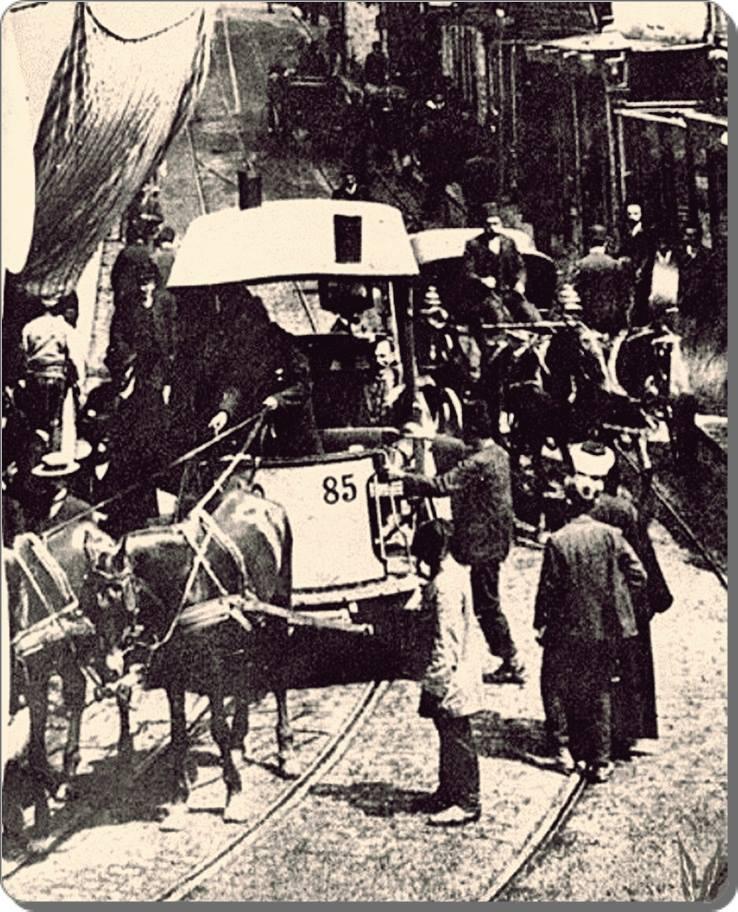 Eski Istanbul - Atlı Tramvay 1900 lar