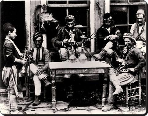 Eski Istanbul - Mahalle Kahvesi 1850 ler