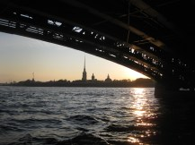 White nights on the river Neva