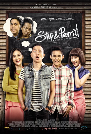 poster stip and pensil
