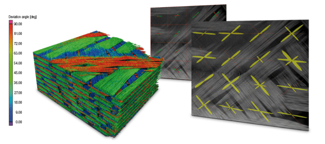 Faserstrukturanalyse eines GFK-Bauteils