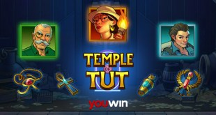 Youwin Temple of Tut slot oyunu.