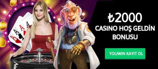 Youwin casino hoş geldin bonusu 2000 TL