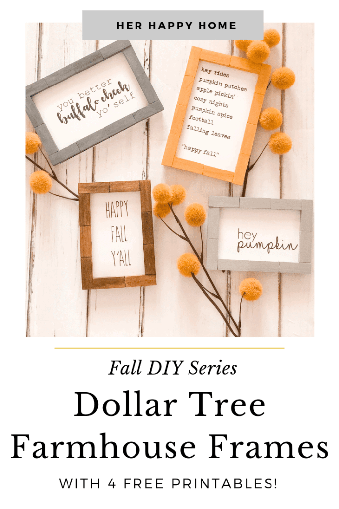 dollar tree farmhouse frames