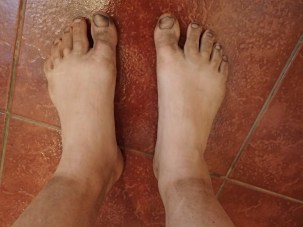 preshower-feet