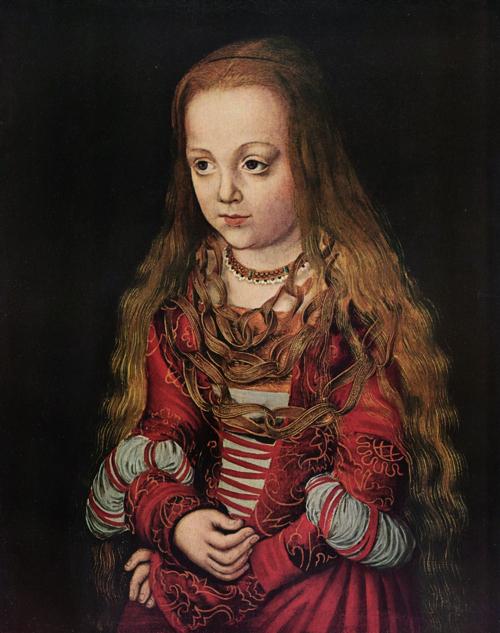 Portrait of a Saxon Princess by Lucas Cranach the Elder