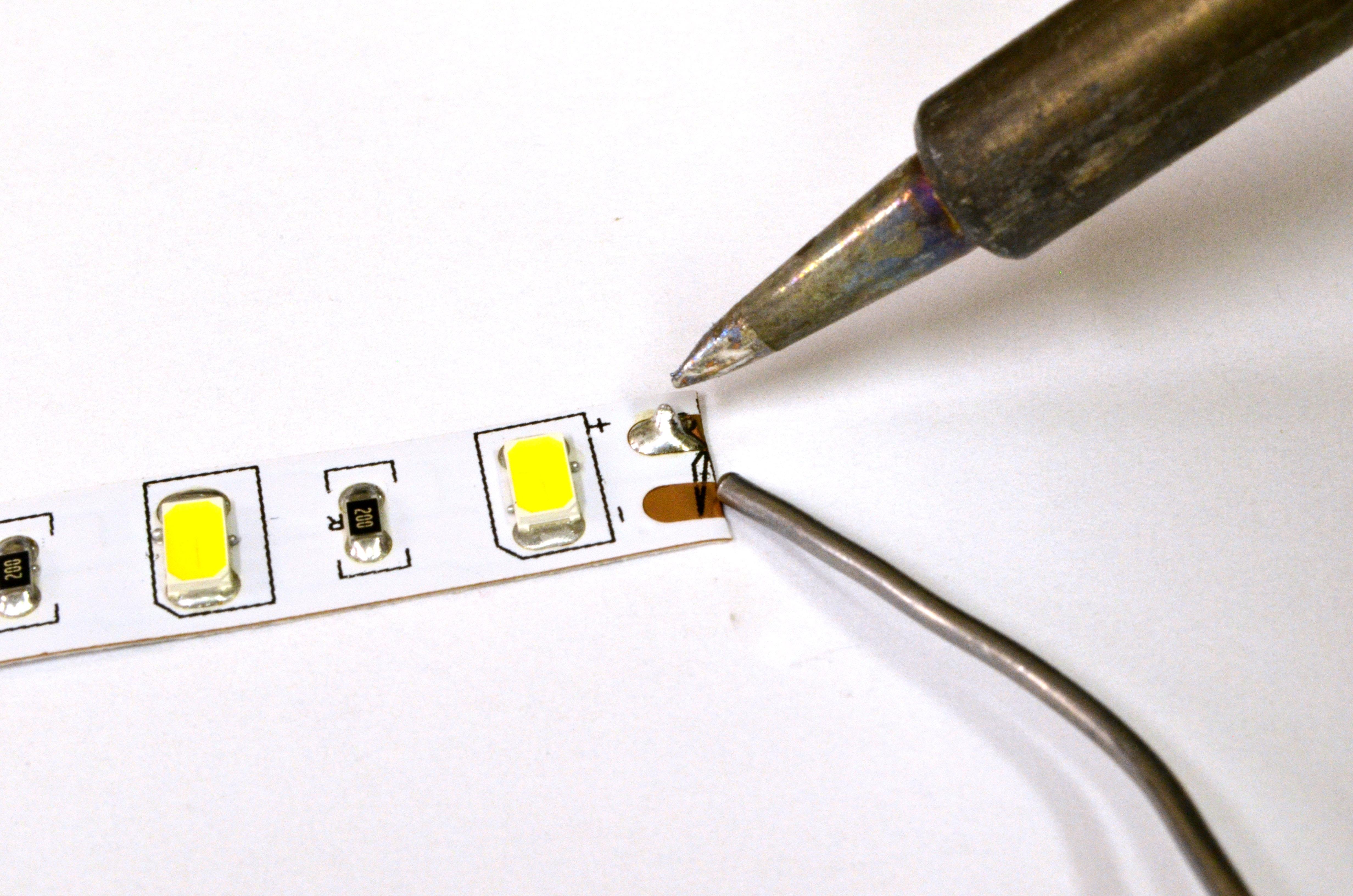 Tinning LED strip terminals  Heraco Lights