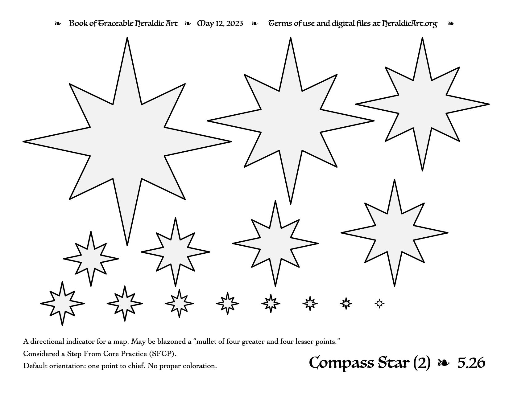 Compass Star - Traceable Heraldic Art