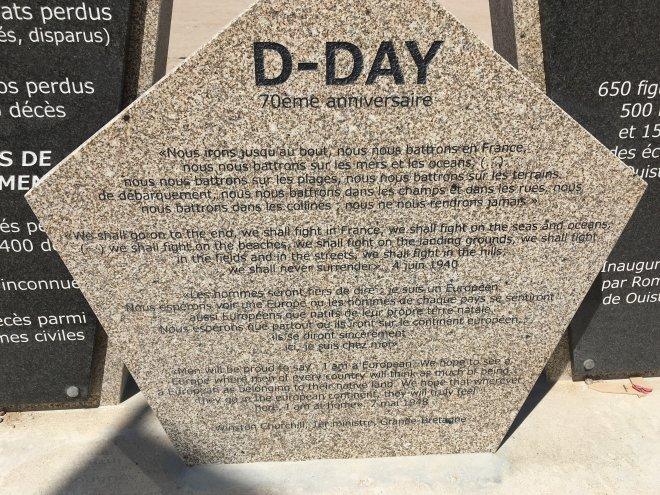 Normandie Denkmal Churchill