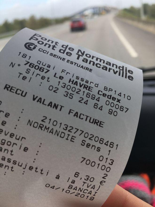 Pont de Normandie Facture