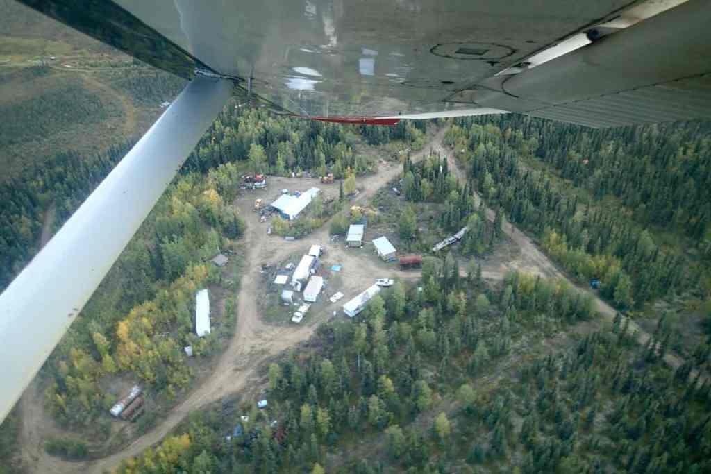 Het kamp vanuit de lucht
