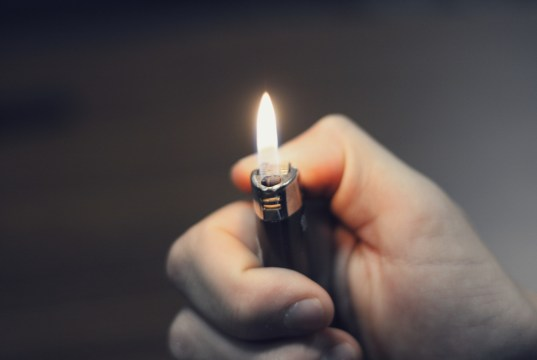 Lighter in Hand