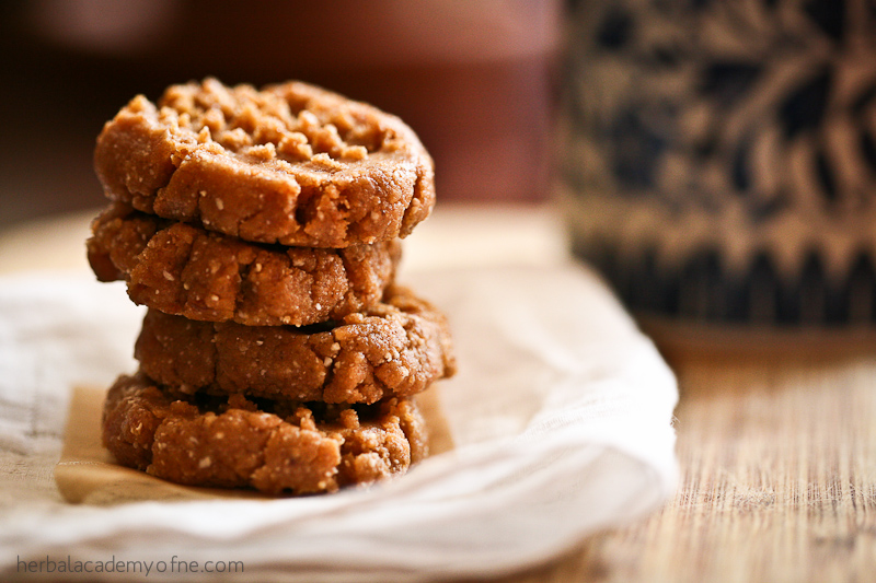 raw peanut butter cookies recipe