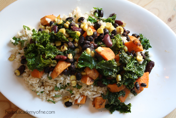 Sweet Potato Kale Sauté recipe