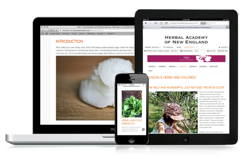 Online Introductory Herbal Course - Access on Mobile Devices