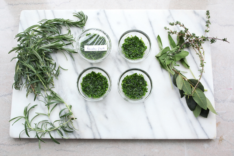 Preserving Fresh Herbs with Herb Paste