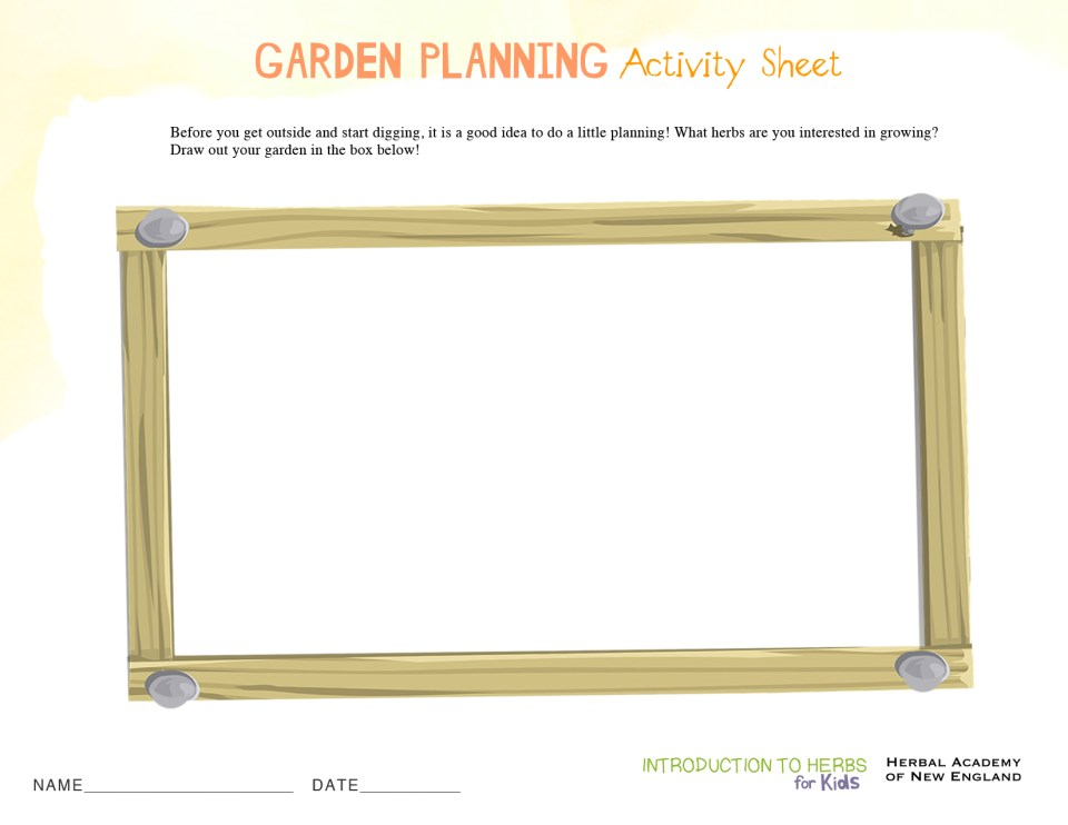 Garden Planning Sheet Printable - Kid's Herb Series