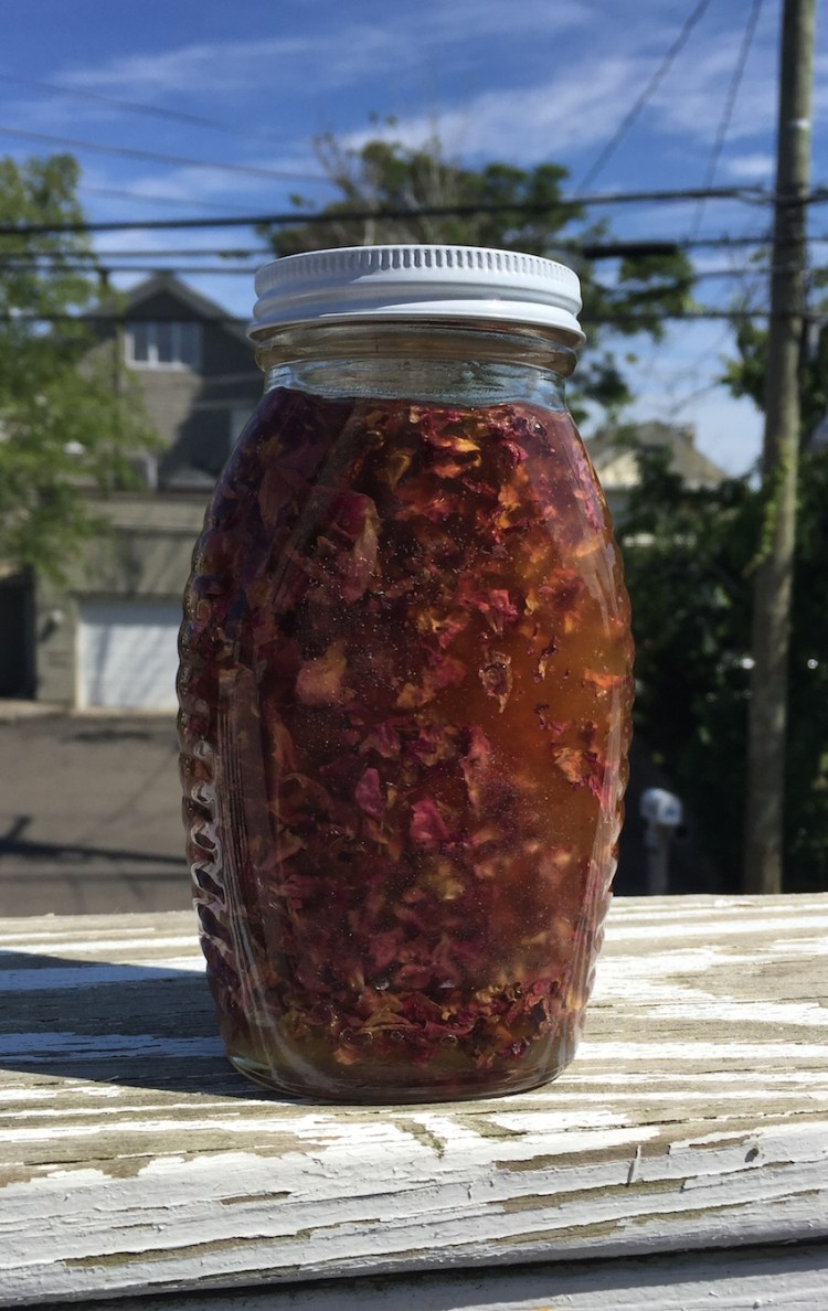 Cool Down with Summer Rose Infused Honey - picture by Ellen D.