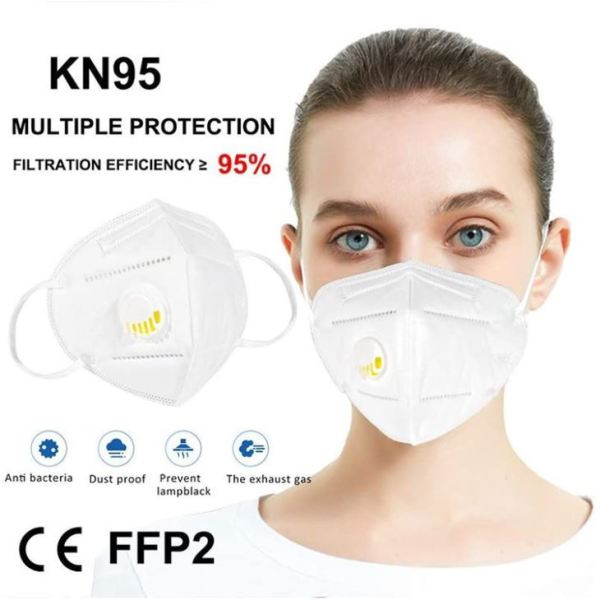 KN 95 Respirator Mask with Filter