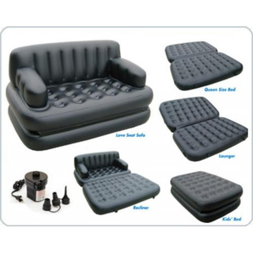 Air Lounge Inflatable Sofa Cum Bed 5 in 1