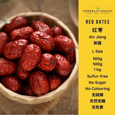 Red Dates Sulfur Free Ready to eat healthy snack malaysia