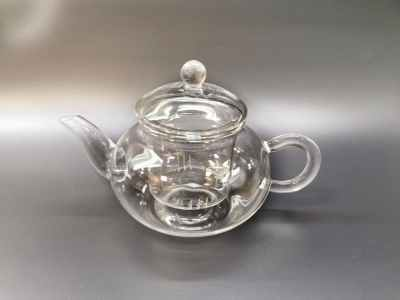 Glass Pot 400ml with 2 cups
