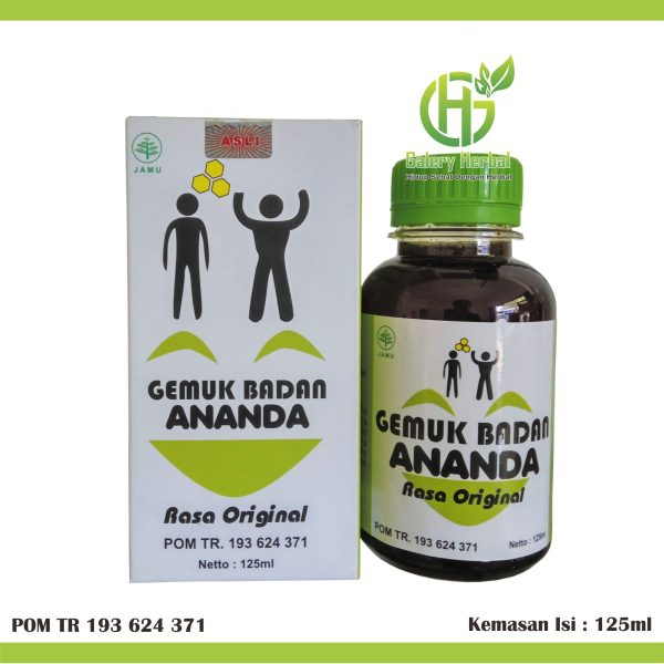 Syrup Herbal Gemuk Badan Ananda