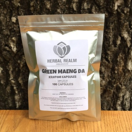 Green Maeng Da (100 Capsules) B&W packaging