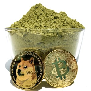 Bitcoin and Dogecoin with kratom