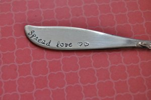 Vintage butter knife from Etsy