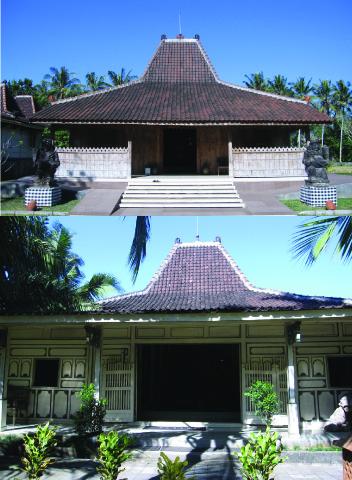 Joglo houses made of teak wood